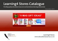 Learning4 Stores Catalogue