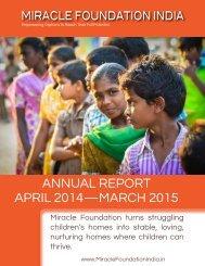 ANNUAL REPORT APRIL 2014—MARCH 2015