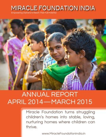 ANNUAL REPORT APRIL 2014—MARCH 2015