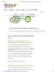 Get Customized CommVault Decision Makers List from Span Global Services