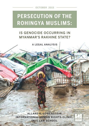 PERSECUTION OF THE ROHINGYA MUSLIMS