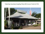 Camping Trip with Luxury Tents in USA
