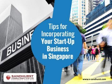 Tips to Register Your Company in Singapore