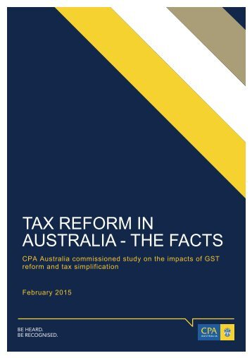 TAX REFORM IN AUSTRALIA - THE FACTS