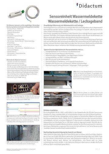 Sensor Wassermeldekette für Meldung bei Wasserschaden im Serverraum und RZ