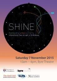 Saturday 7 November 2015 10am – 4pm Byre Theatre