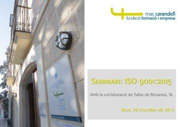 Seminari ISO 9001:2015