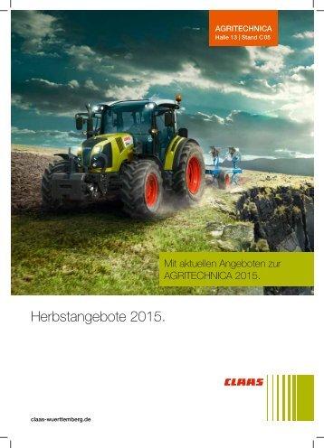 BW Agrar - Herbstangebote 2015 - Duffner Landtechnik
