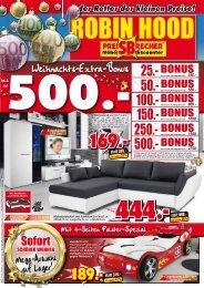 Weihnachts-Extra-Bonus! 4 Seiten Polster-Spezial!