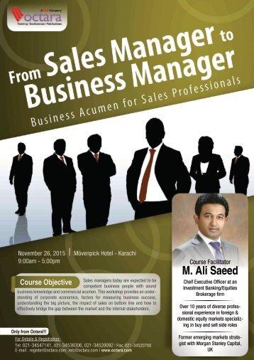 M Ali Saeed professional specializing strategist