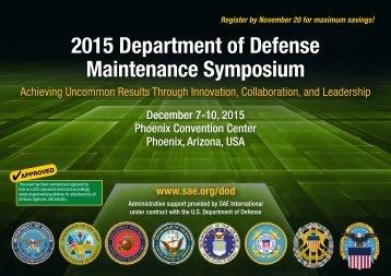 2015 Department of Defense Maintenance Symposium