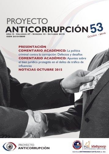 Boletín Anticorrupción Octubre 2015