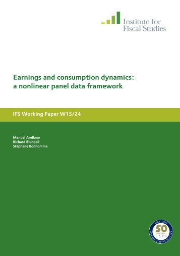 Earnings and consumption dynamics a nonlinear panel data framework