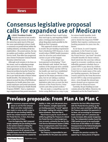Consensus legislative proposal calls for expanded use of Medicare