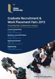 Graduate Recruitment & Work Placement Fairs 2015