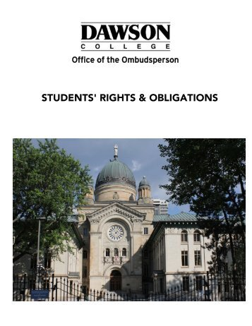 STUDENTS' RIGHTS & OBLIGATIONS