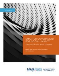 SMARTER GOVERNMENT FOR SOCIAL IMPACT