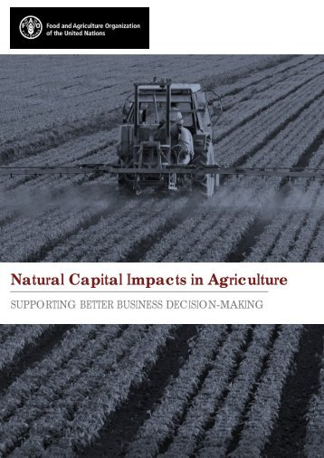 Natural Capital Impacts in Agriculture