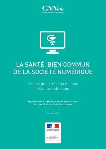 LA SANTÉ BIEN COMMUN DE LA SOCIÉTÉ NUMÉRIQUE
