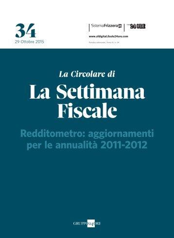 34 La Settimana Fiscale