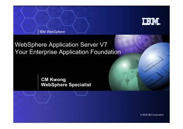 WAS V7 Overview - IBM