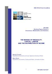 THE MAKING OF INEQUALITY CAPITAL LABOUR AND THE DISTRIBUTION OF INCOME