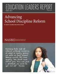 EDUCATION LEADERS REPORT