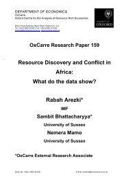 What do the data show? Rabah Arezki*