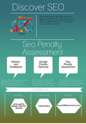 SEO Penalty Assessment service