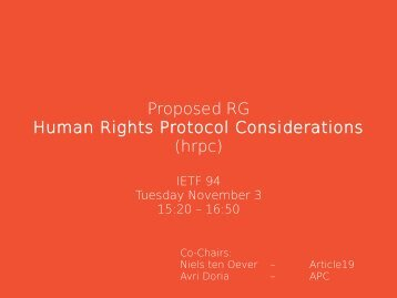 Proposed RG Human Rights Protocol Considerations (hrpc)
