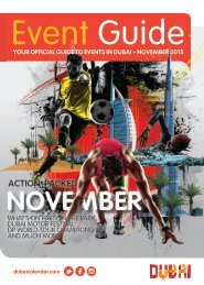 YOUR OFFICIAL GUIDE TO EVENTS IN DUBAI – NOVEMBER 2015