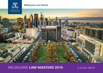MELBOURNE LAW MASTERS 2016