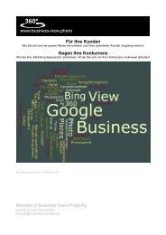 Leistungsbeschreibung & Preisliste - Business View Photo Ag