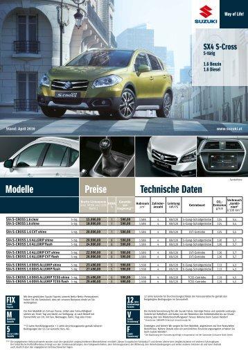 Suzuki SX4 S-Cross Preis und Ausstattung Österreich
