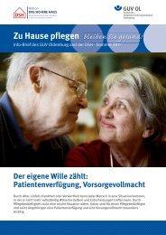 Zu Hause pflegen - Gemeinde-Unfallversicherungsverband Oldenburg