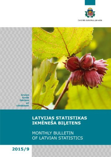 (256)/2015 Monthly Bulletin of Latvian Statistics