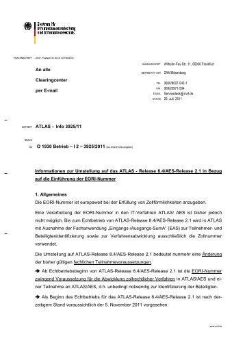 ATLAS-Teilnehmerinformation 3925-07/2011 - IHK Schwerin