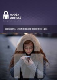 MOBILE CONNECT CONSUMER RESEARCH REPORT UNITED STATES