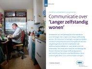 Communicatie over 'Langer zelfstandig wonen'