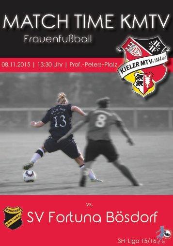 08.11.15 KMTV – SV Fortuna Bösdorf (Frauen SH-Liga)