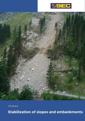 1.- Stabilization of slopes and embankments