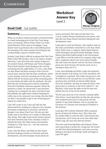 Dead Cold - Cambridge University Press