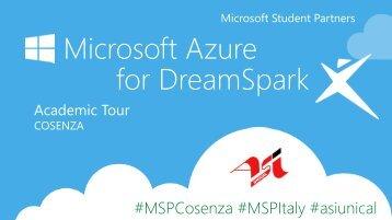 Microsoft Azure for DreamSpark