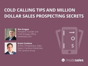 COLD CALLING TIPS AND MILLION DOLLAR SALES PROSPECTING SECRETS