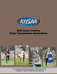 2015 Cross Country State Tournament Instructions