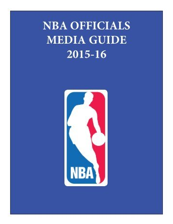 NBA OFFICIALS MEDIA GUIDE 2015-16