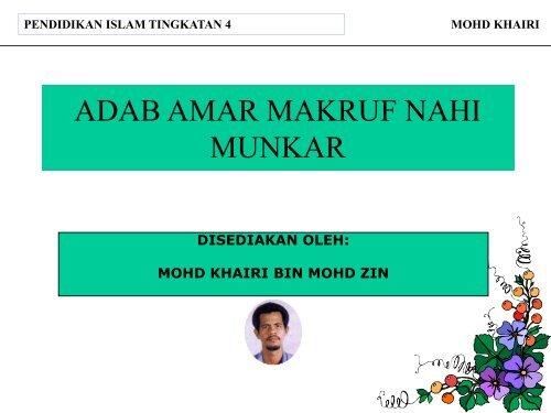 Pel 31 Adab Amar Makruf Nahi Munkar