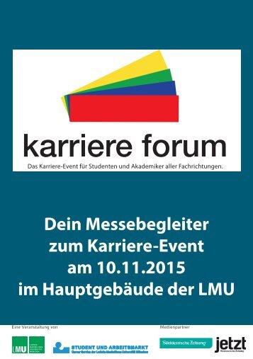 Messekatalog KarriereForum 2015