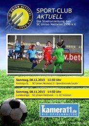 Sport Club Aktuell - Ausgabe 19 - 08.11.2015