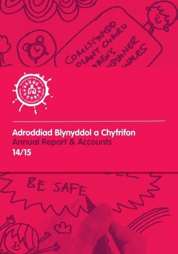 Adroddiad Blynyddol a Chyfrifon Annual Report & Accounts 14/15